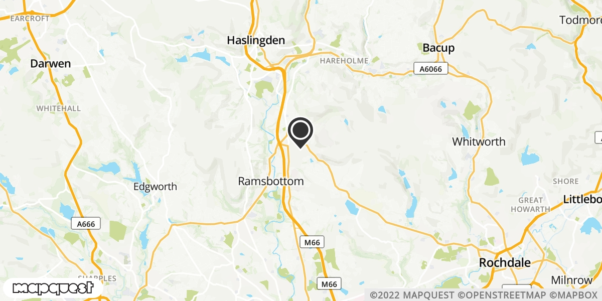 local map of watch repair drop off points in Bury, Lancashire | Repairs by Post
