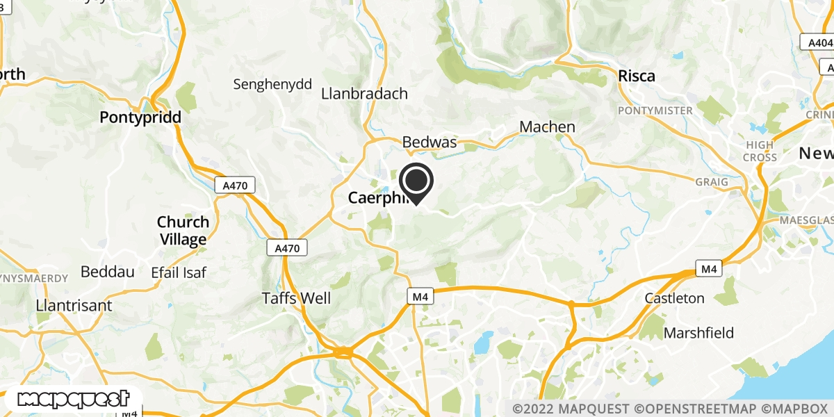 local map of watch repair drop off points in Caerphilly, Mid Glamorgan | Repairs by Post