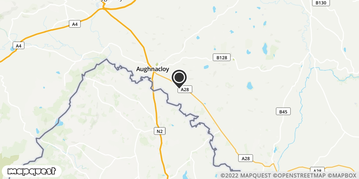 local map of watch repair drop off points in Caledon, County Tyrone   Repairs by Post