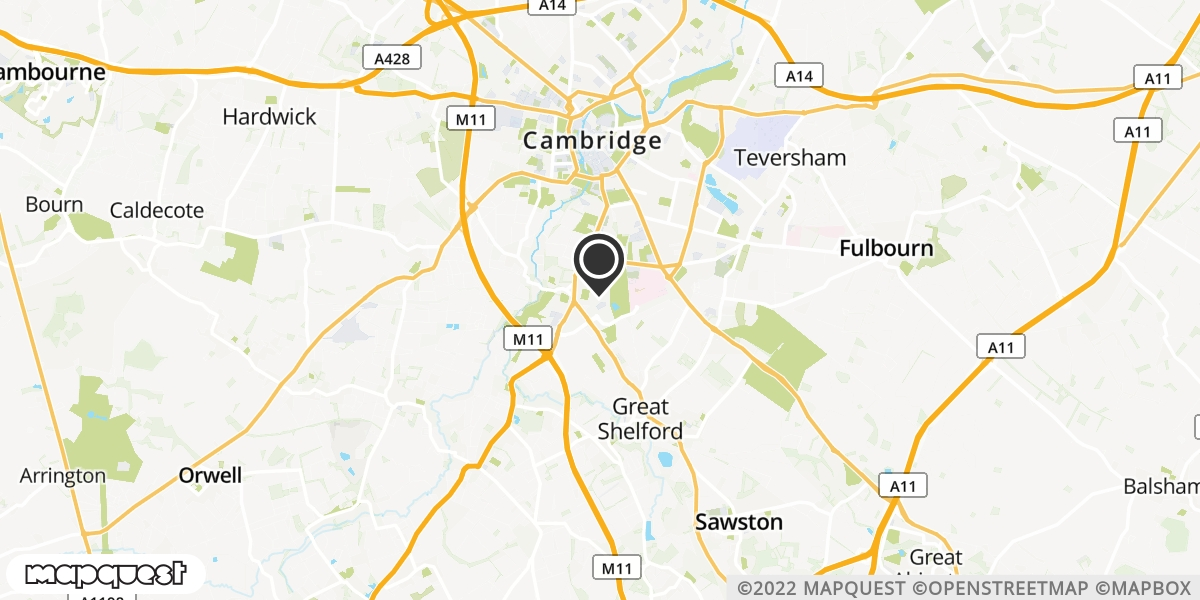 local map of watch repair drop off points in Cambridge, Cambridgeshire | Repairs by Post