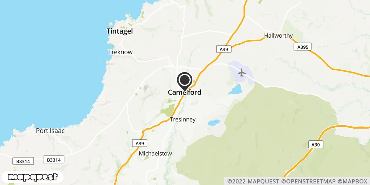 local map of watch repair drop off points in Camelford, Cornwall | Repairs by Post