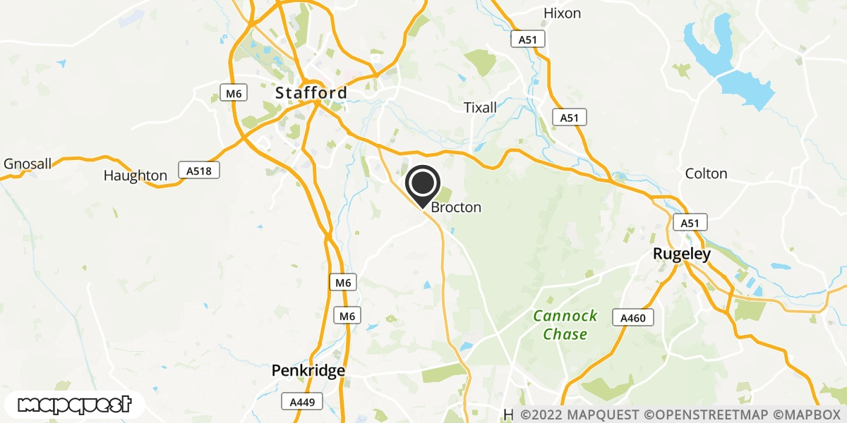 local map of watch repair drop off points in Cannock, Staffordshire | Repairs by Post