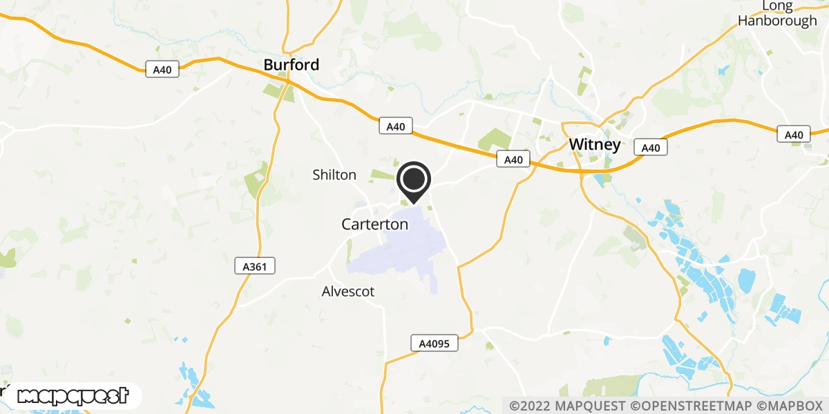 local map of watch repair drop off points in Carterton, Oxfordshire | Repairs by Post