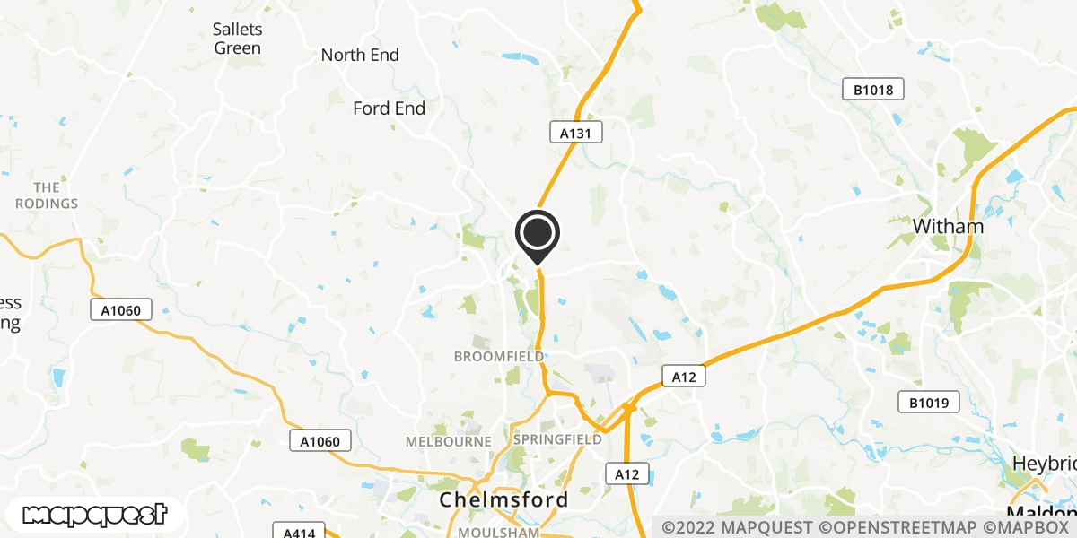 local map of watch repair drop off points in Chelmsford, Essex | Repairs by Post