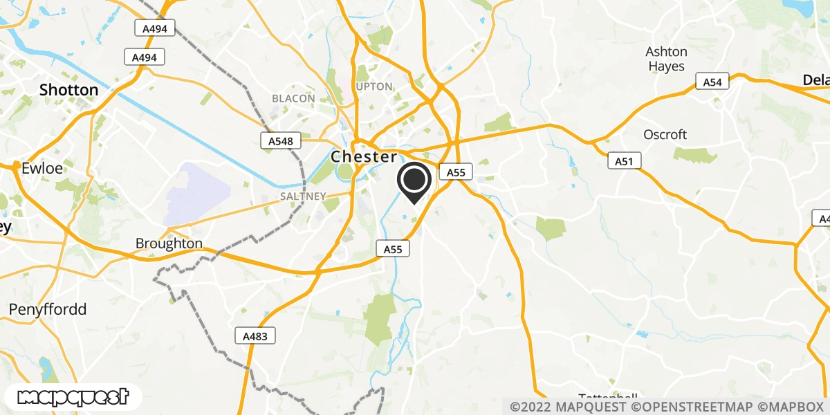 local map of watch repair drop off points in Chester, Cheshire | Repairs by Post