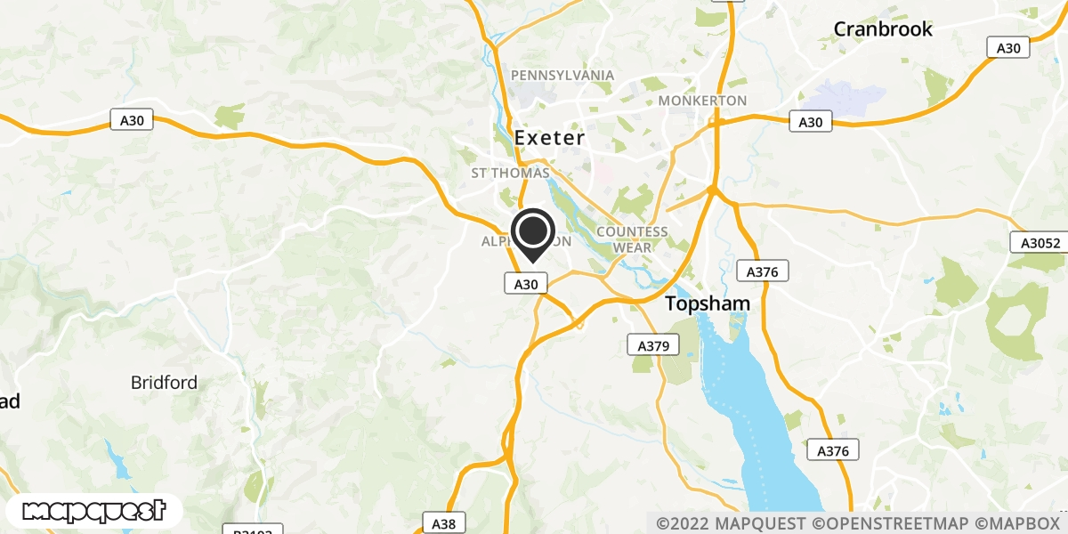 local map of watch repair drop off points in Chumleigh, Devon | Repairs by Post
