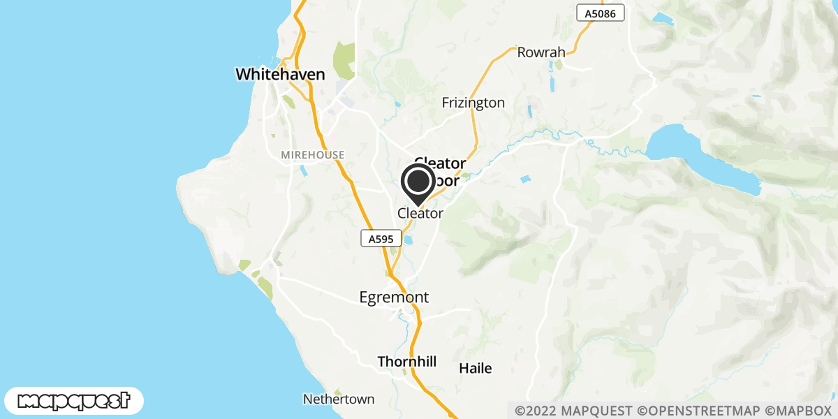 local map of watch repair drop off points in Cleator Moor, Cumbria | Repairs by Post