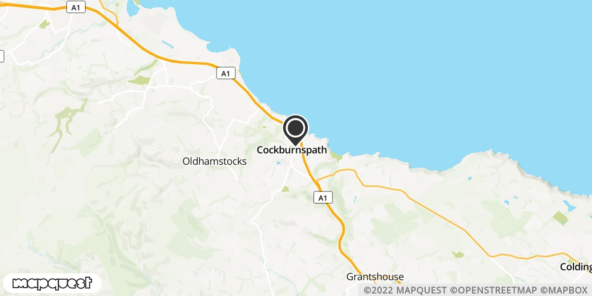 local map of watch repair drop off points in Cockburnspath, Berwickshire | Repairs by Post