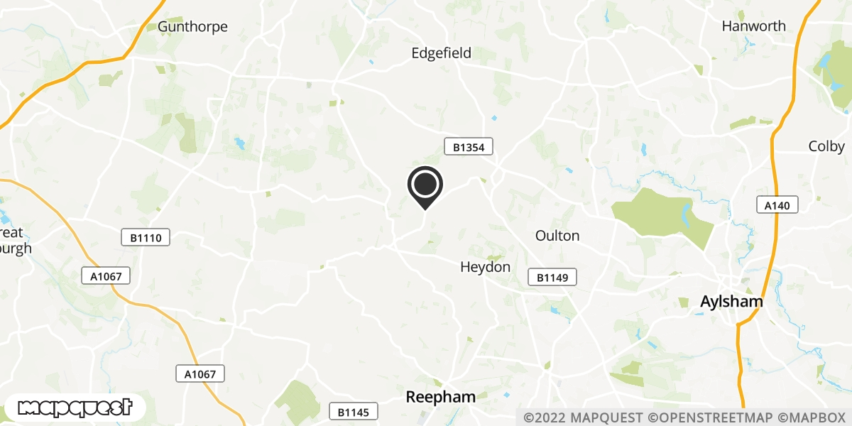 local map of watch repair drop off points in Corpusty, Norfolk | Repairs by Post