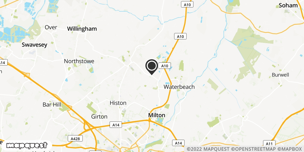 local map of watch repair drop off points in Cottenham, Cambridgeshire | Repairs by Post