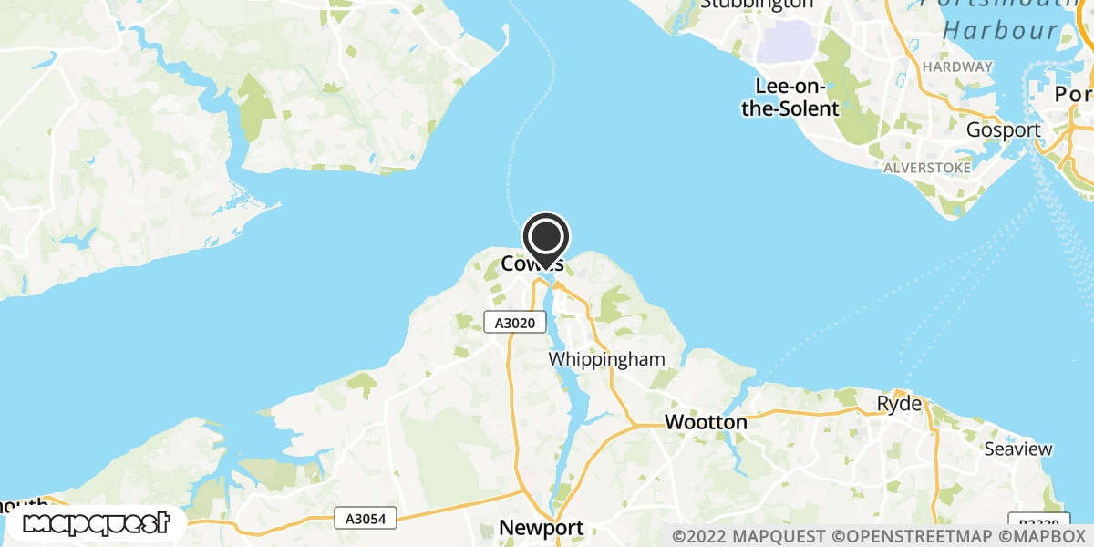 local map of watch repair drop off points in Cowes, Isle of Wight | Repairs by Post