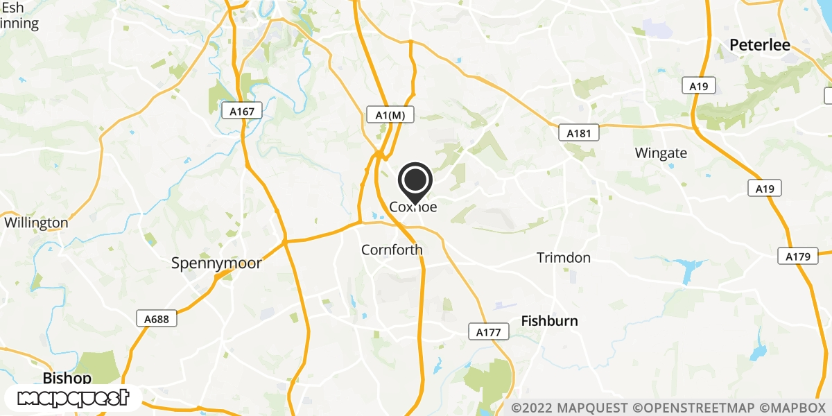 local map of watch repair drop off points in Coxhoe, County Durham | Repairs by Post