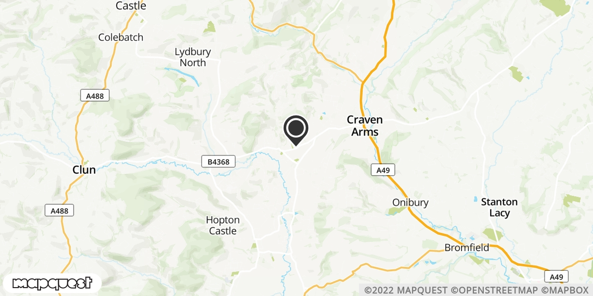 local map of watch repair drop off points in Craven Arms, Shropshire | Repairs by Post