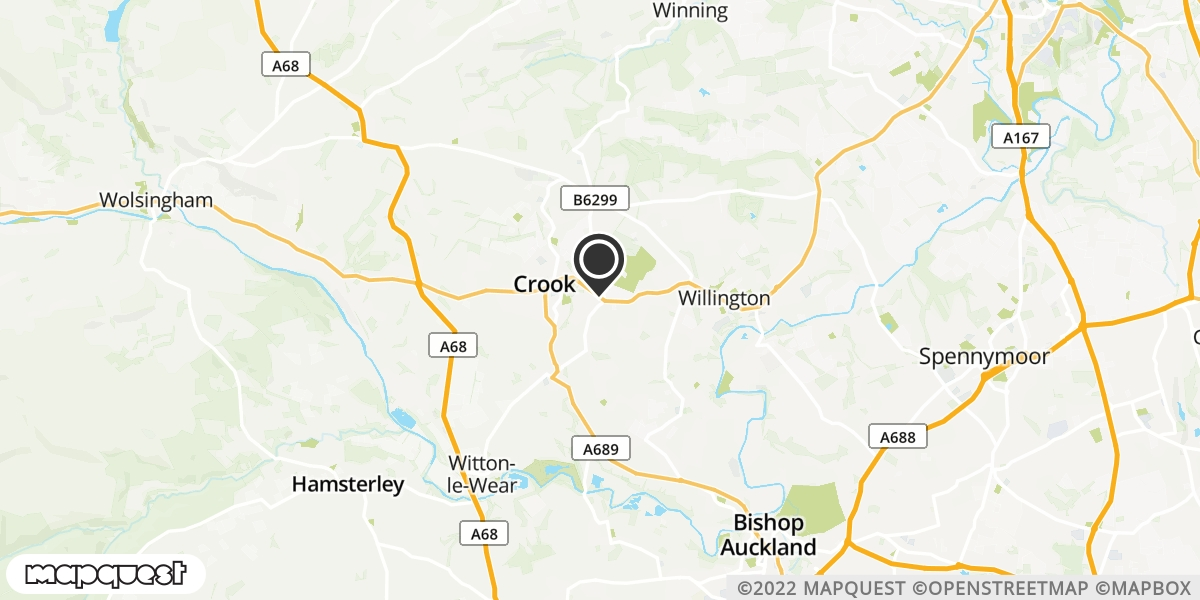 local map of watch repair drop off points in Crook, County Durham | Repairs by Post