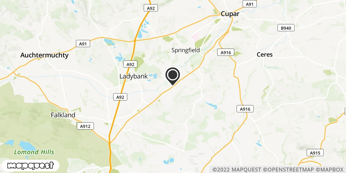 local map of watch repair drop off points in Cupar, Fife | Repairs by Post