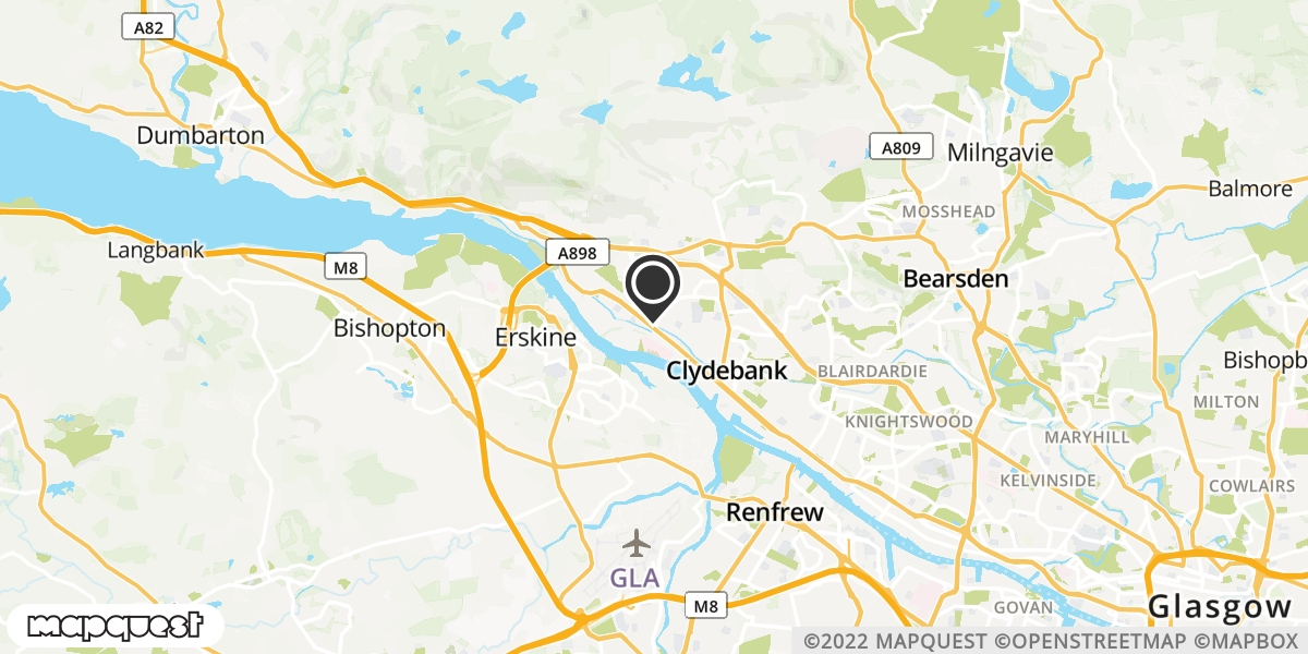 local map of watch repair drop off points in Dalmuir, Dunbartonshire | Repairs by Post