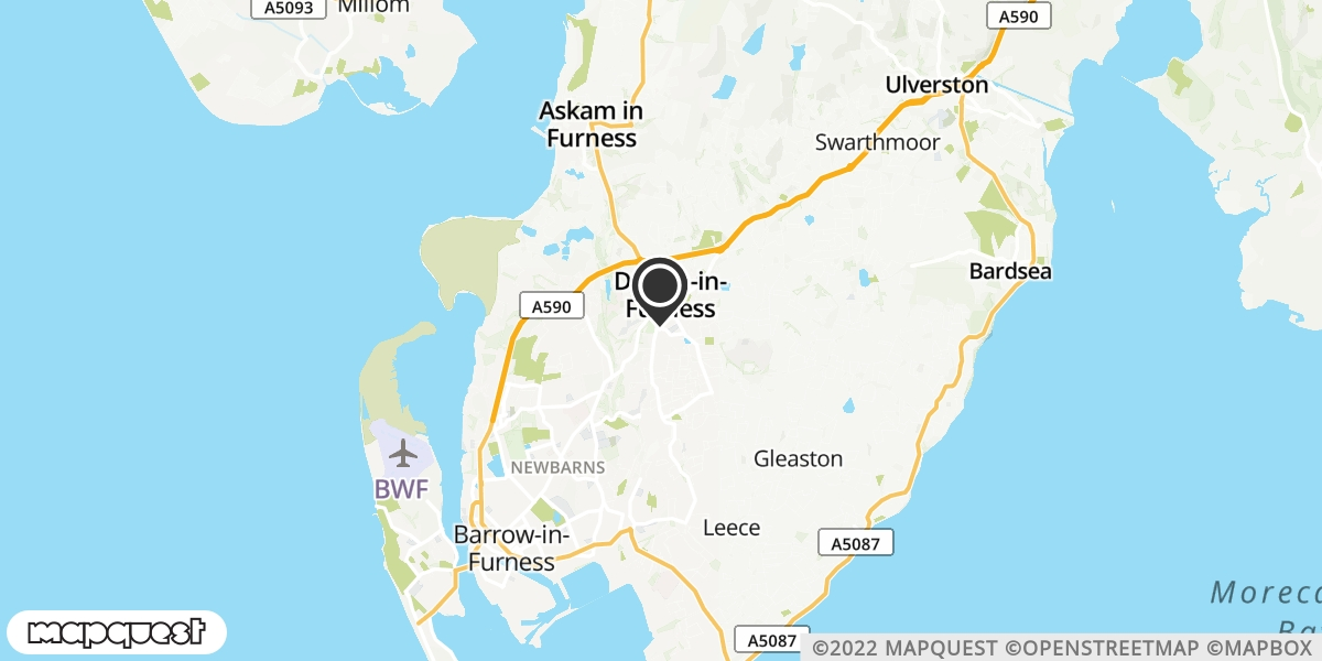local map of watch repair drop off points in Dalton In Furness, Cumbria | Repairs by Post