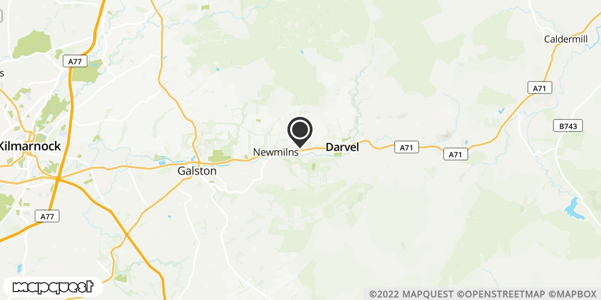 local map of watch repair drop off points in Darvel, Ayrshire | Repairs by Post
