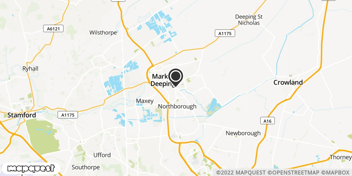 local map of watch repair drop off points in Deeping St James, Cambridgeshire | Repairs by Post