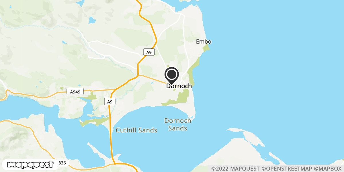 local map of watch repair drop off points in Dornoch, Sutherland | Repairs by Post