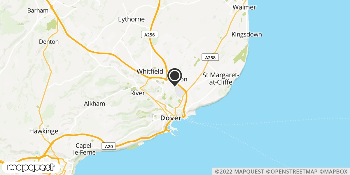 local map of watch repair drop off points in Dover, Kent | Repairs by Post