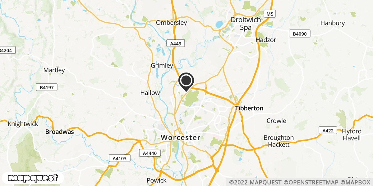 local map of watch repair drop off points in Droitwich, Worcestershire | Repairs by Post