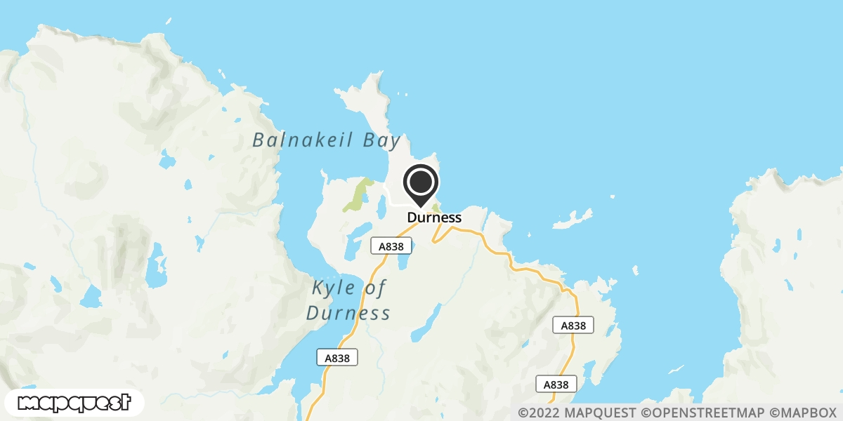 local map of watch repair drop off points in Durness, Sutherland | Repairs by Post