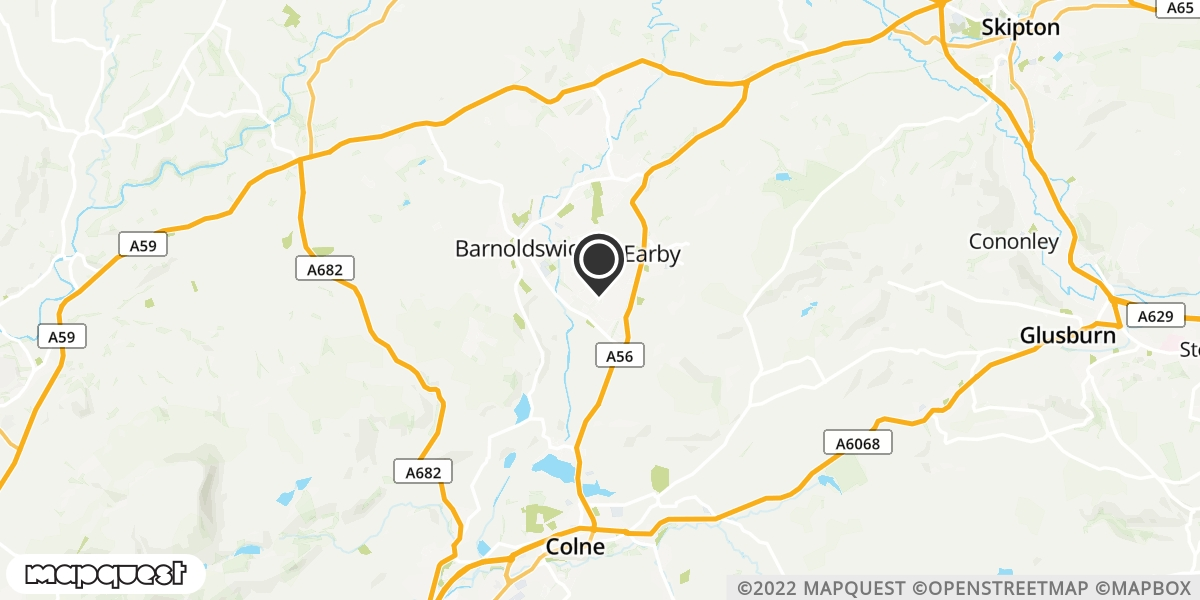 local map of watch repair drop off points in Earby, Lancashire | Repairs by Post