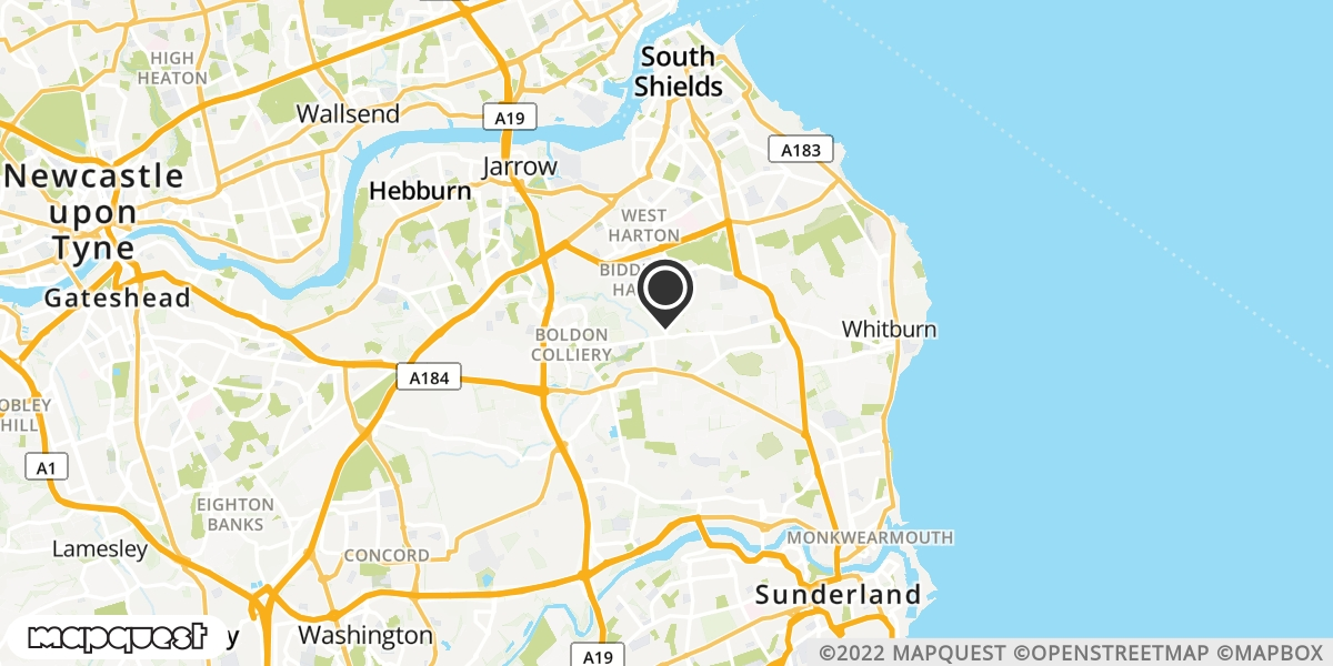 local map of watch repair drop off points in East Boldon, Tyne and Wear | Repairs by Post