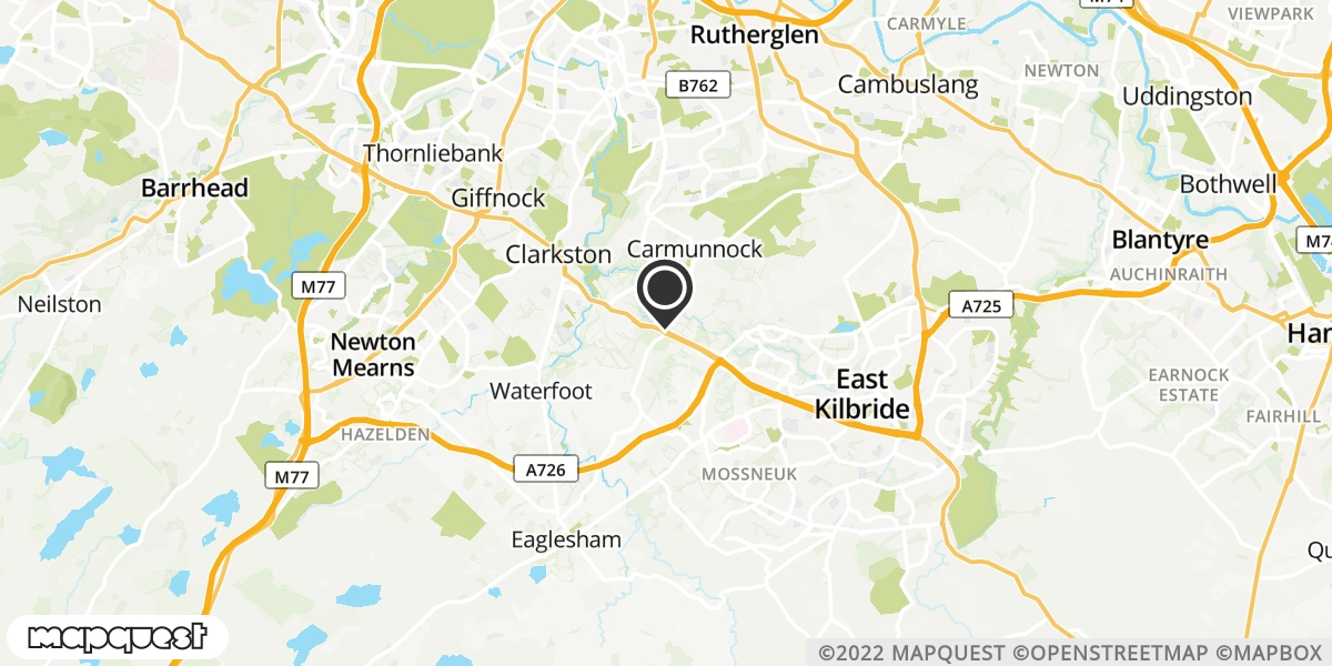 local map of watch repair drop off points in East Kilbride, Lanarkshire   Repairs by Post