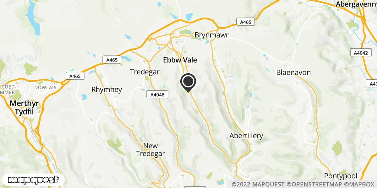local map of watch repair drop off points in Ebbw Vale, Gwent | Repairs by Post