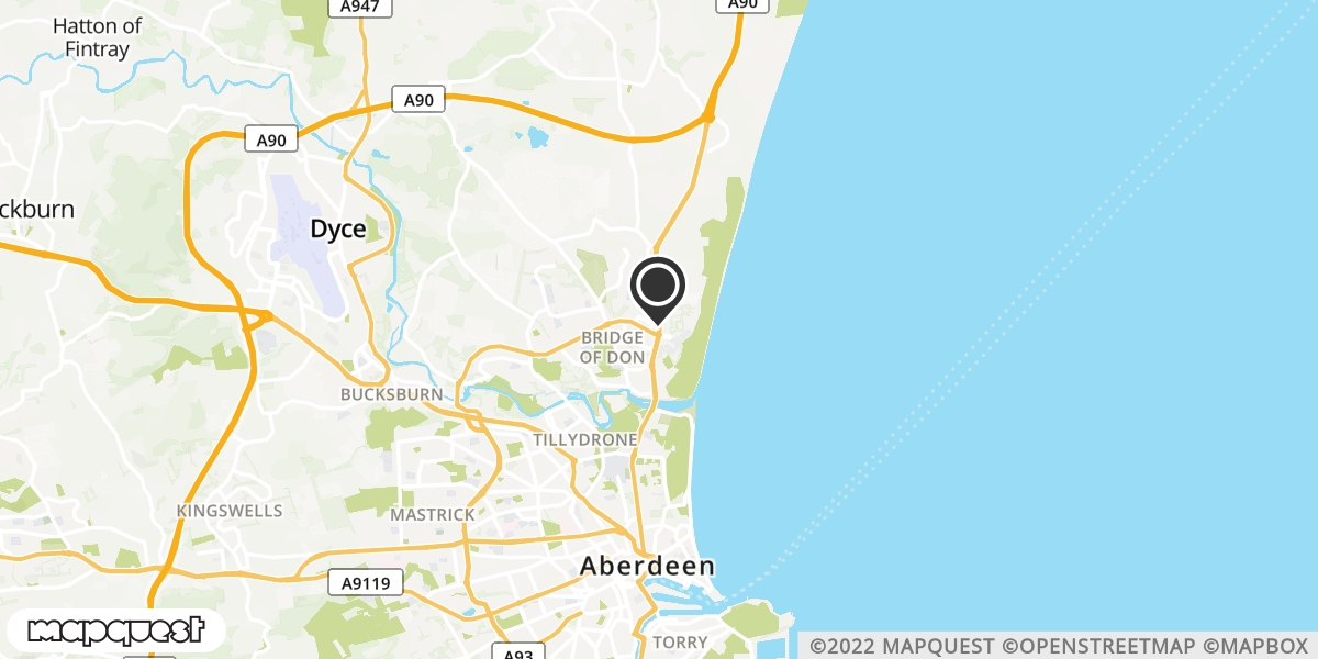local map of watch repair drop off points in Ellon, Aberdeenshire | Repairs by Post