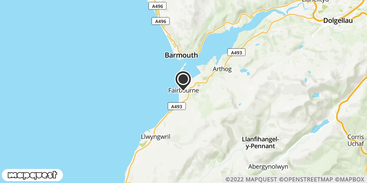 local map of watch repair drop off points in Fairbourne, Gwynedd | Repairs by Post