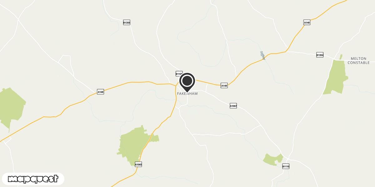 local map of watch repair drop off points in Fakenham, Norfolk | Repairs by Post