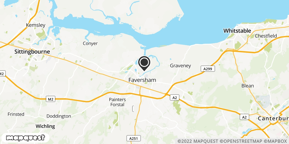 local map of watch repair drop off points in Faversham, Kent | Repairs by Post