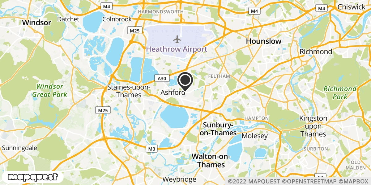 local map of watch repair drop off points in Feltham, Middlesex | Repairs by Post