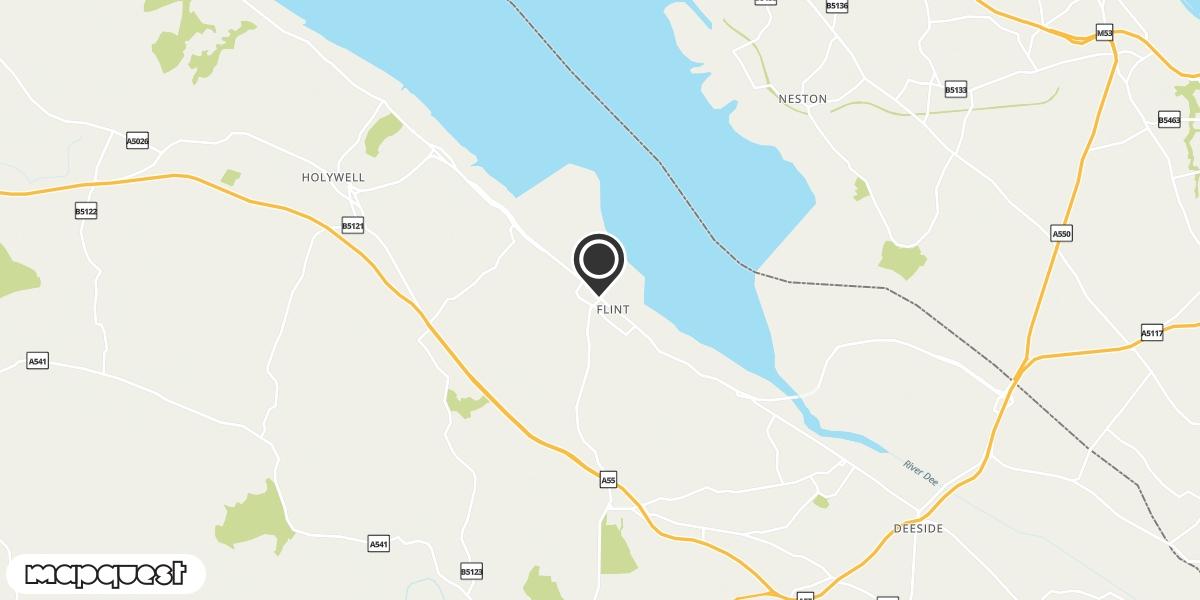 local map of watch repair drop off points in Flint, Flintshire   Repairs by Post