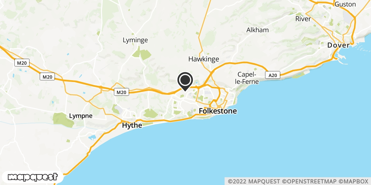 local map of watch repair drop off points in Folkstone, Kent | Repairs by Post