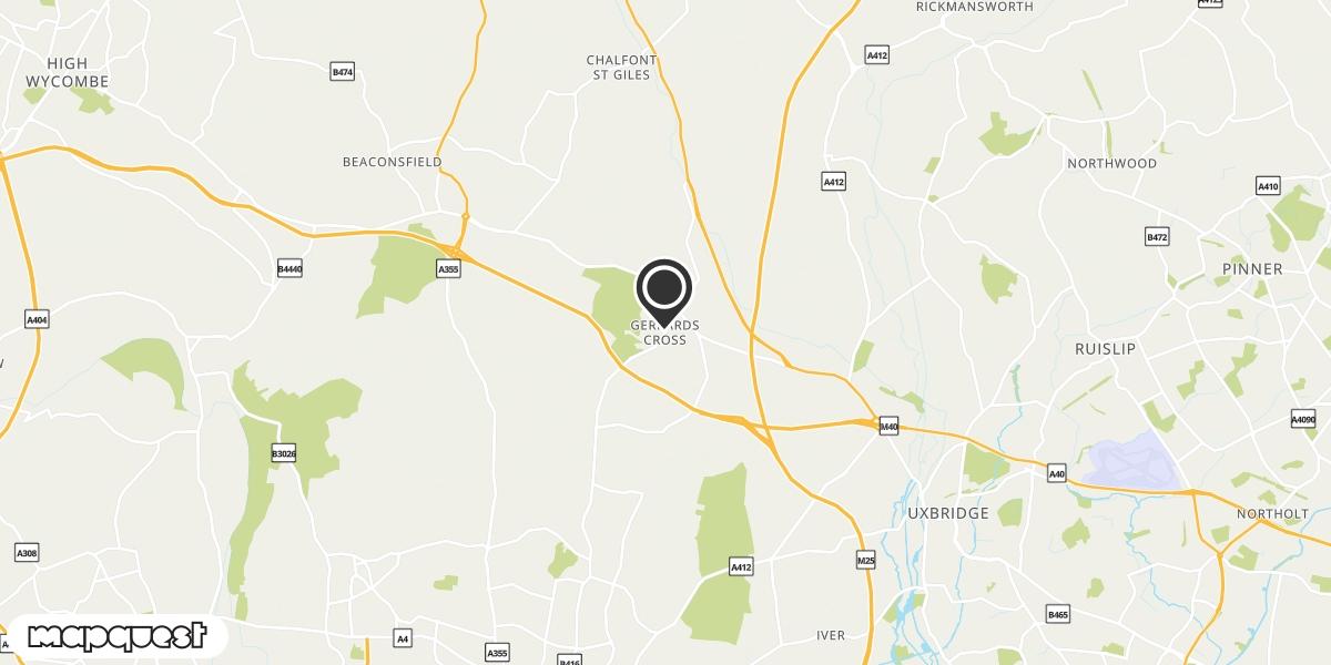 local map of watch repair drop off points in Gerrards Cross, Buckinghamshire | Repairs by Post