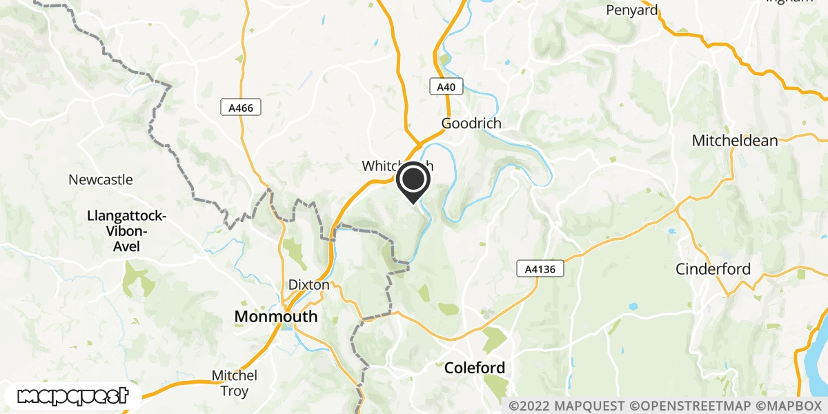 local map of watch repair drop off points in Glasbury on Wye, Herefordshire | Repairs by Post