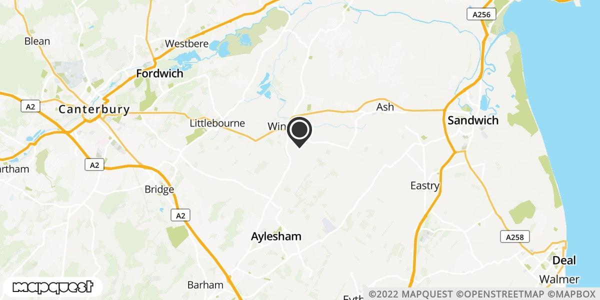local map of watch repair drop off points in Goonestone, Kent | Repairs by Post