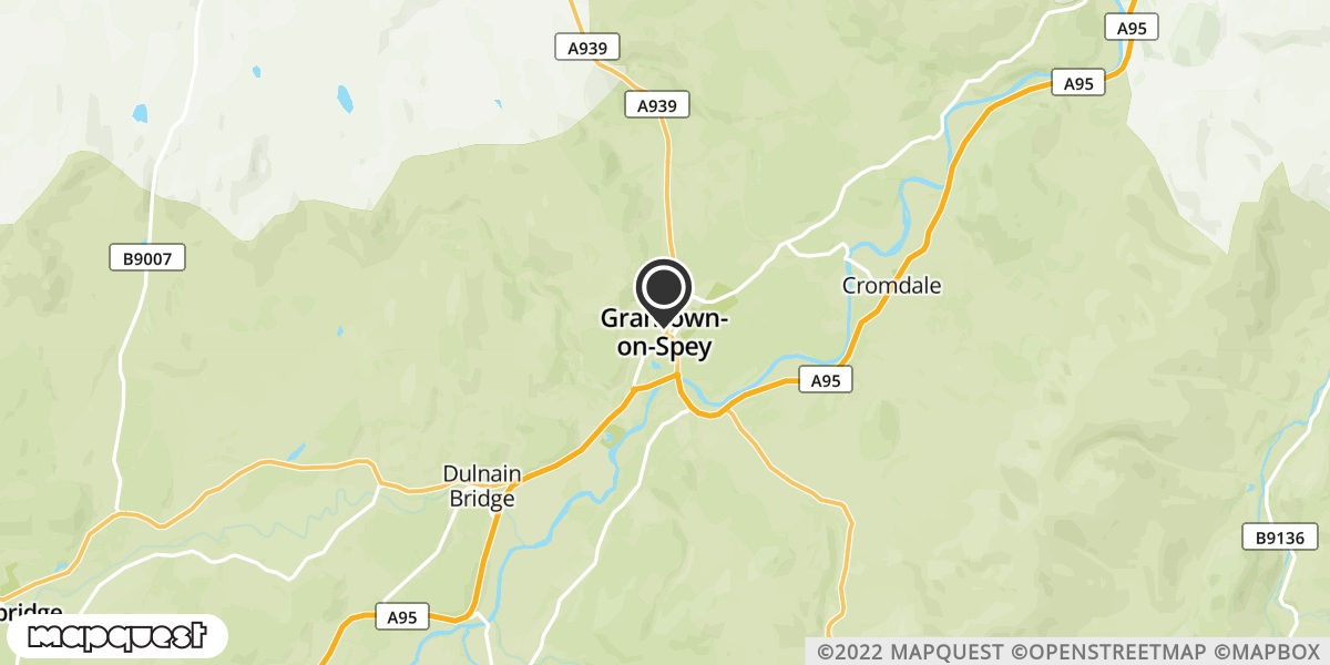 local map of watch repair drop off points in Grantown-On-Spey, Morayshire | Repairs by Post