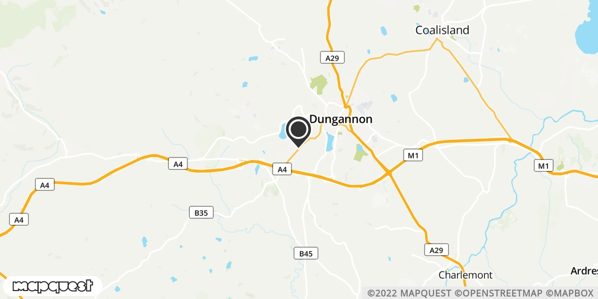 local map of watch repair drop off points in Granville, Dungannon | Repairs by Post