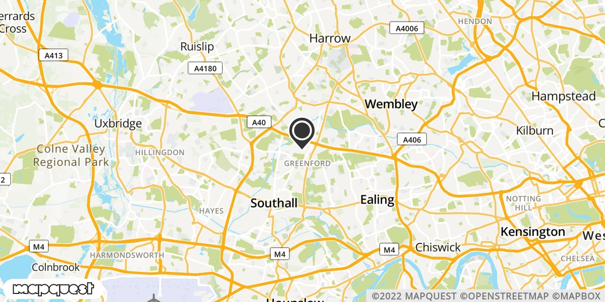 local map of watch repair drop off points in Greenford, Middlesex | Repairs by Post