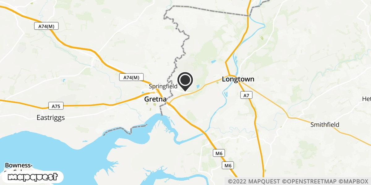 local map of watch repair drop off points in Gretna, Dumfriesshire | Repairs by Post
