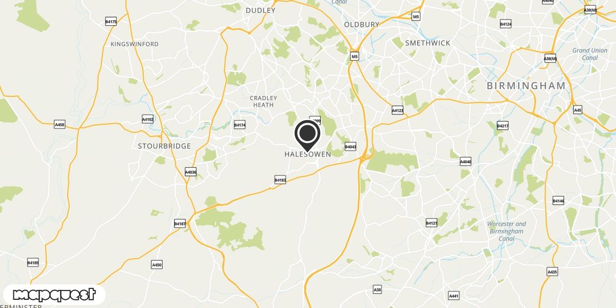 local map of watch repair drop off points in Halesowen, West Midlands | Repairs by Post