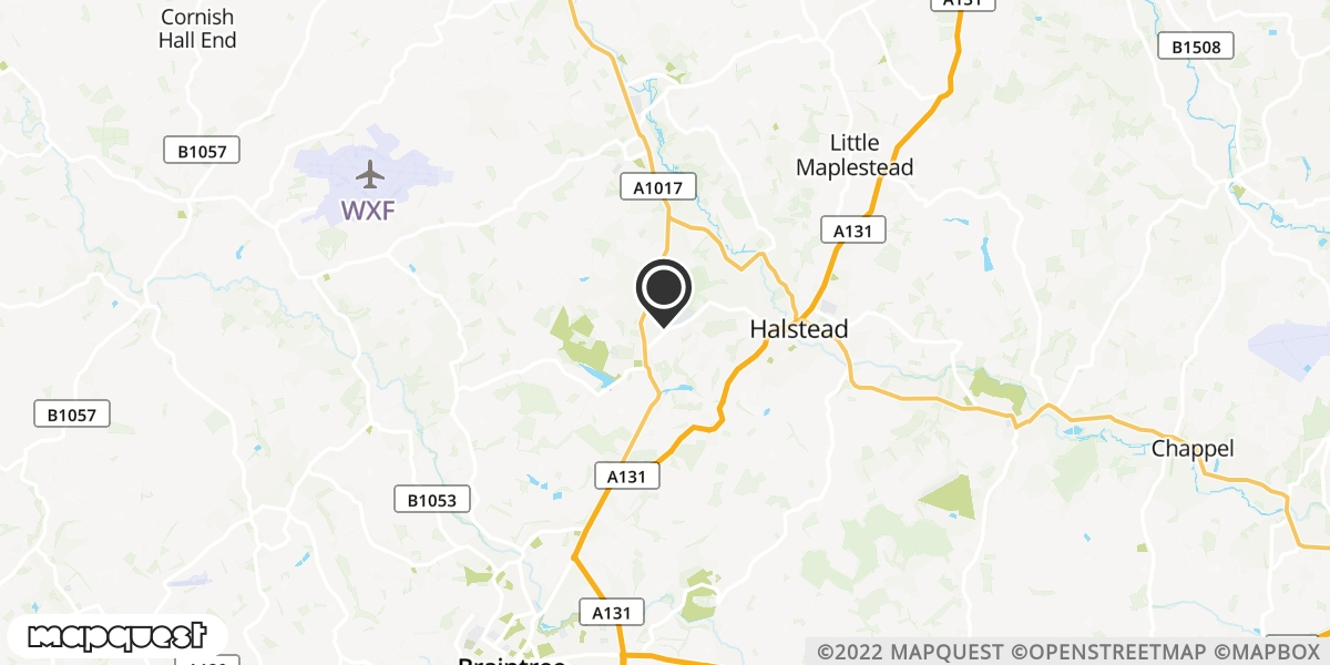 local map of watch repair drop off points in Halstead, Essex | Repairs by Post