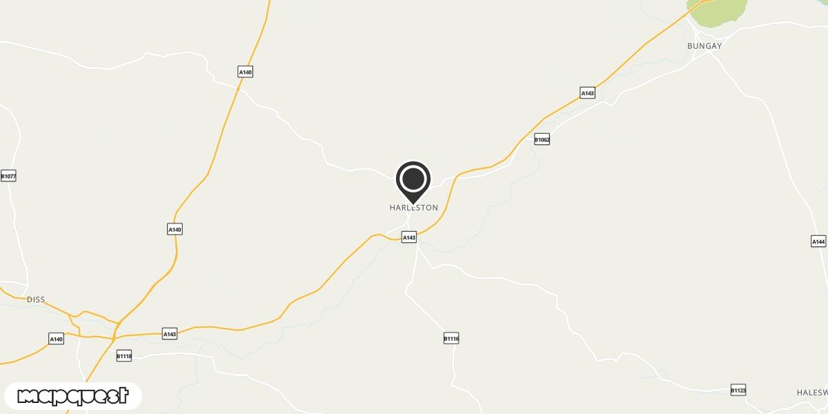 local map of watch repair drop off points in Harleston, Norfolk | Repairs by Post