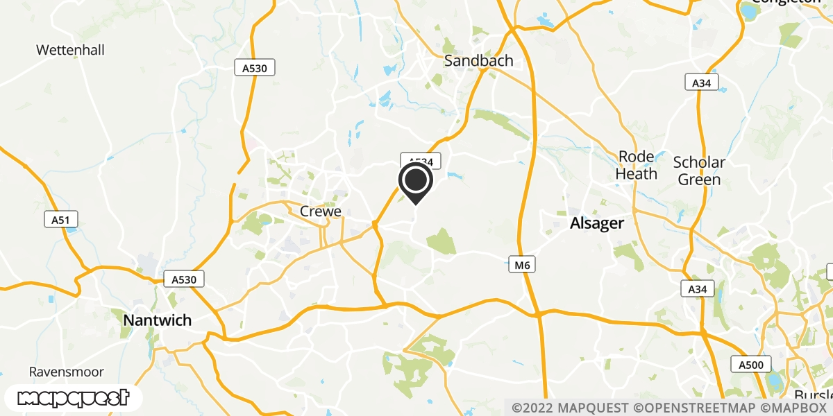 local map of watch repair drop off points in Haslington, Cheshire | Repairs by Post
