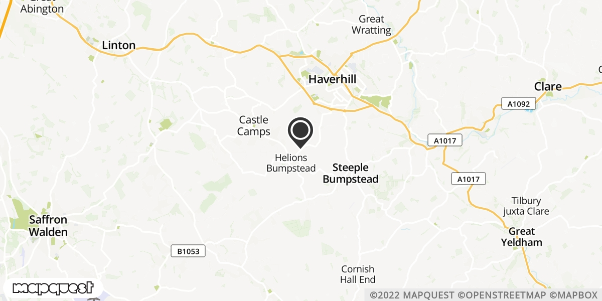 local map of watch repair drop off points in Haverhill, Suffolk | Repairs by Post